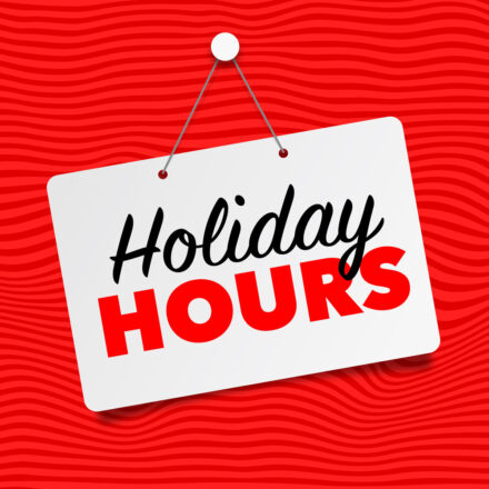 Holiday 2020 Hours
